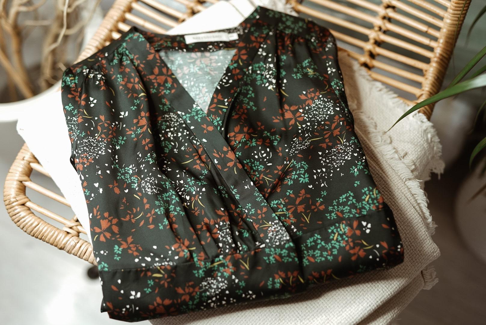 Sukienka Kopertowa w Kwiaty Black
